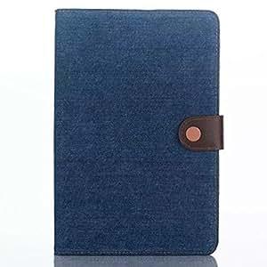 iPad mini4 レザーケース おしゃれ デニム ウボーイ風横開き 超薄軽量 手帳型 タブレットケース アイパッドミニ4 アイパッドミニカバー スタンド&カード入れ付き タッチペン プレゼント (ダックブルー)