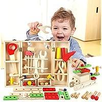 Alytimes おもちゃ 知育玩具 木製 玩具 大工さんセット 木のおもちゃ 男の子 3歳 から