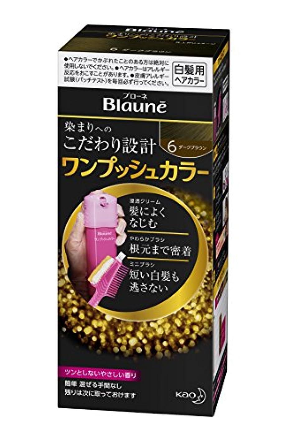 トリッキーフォーマル発明するブローネワンプッシュカラー 6 ダークブラウン 80g [医薬部外品]