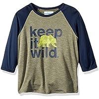 Columbia Boys Outdoor Elements?3/4 Sleeve Shirt Cypress Wild Graphic Large [並行輸入品]