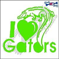"""Alligator 4–I Love Gators 5"""" Wideデカール 1 PACK ECD-GTR4-LG"""