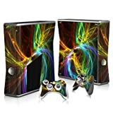 Linyuan 安定した品質 T0273* Skin Decal Wrap Sticker for Microsof XBOX360 SLIM Console+2 Controllers