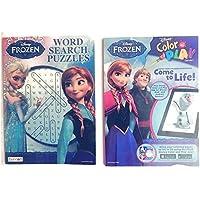 Disney FrozenアクティビティPack : Includesカラーand Play Bookと、ワード検索パズル、ステッカー、フリーズクレヨン、フリーズジグソーパズル、Grab & Go Playパック