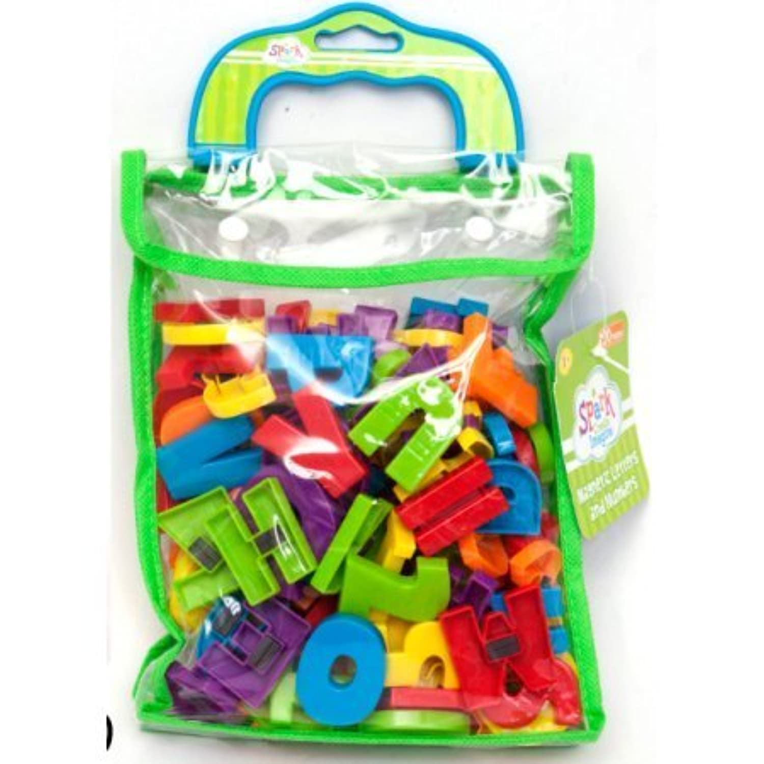 Spark Magnetic Letters & Numbers 120 Pieces Alphabet ABC & 123 Magnets [並行輸入品]