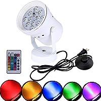 stglighting RGB高アクセントアップライト12W LEDスポットライトwithリモート制御装飾ライト調節可能なボディ5.12Ft on/offフットペダルスイッチコードforロフトギャラリー展覧会ステージ背景スポットライト
