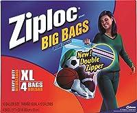 """Ziploc 71595Heavy Dutyバッグ、2' x 20"""" (Pack of 4)"""