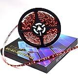 ぶーぶーマテリアル LEDテープ レッド 赤 300連 高輝度 5m 12V 黒ベース 防水 IP65 【カーパーツ】