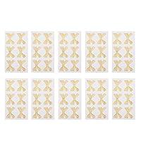リボン式シール キラキラ 貼りシール 蝶結びシール ホリデーパーティー ギフト包装 装飾 10枚セット