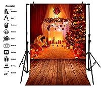 leyiyi 6x 9ft写真バックドロップ背景ヴィンテージMerry Christmas CandlesステージカーテンPineライトギフト暖炉Wreath SockカーペットフォトPortraitビニールビデオStudio Prop