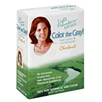 Light Mountain, Color the Gray!, Natural Hair Color & Conditioner, Chestnut, 7 oz (198 g)