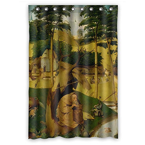 masoyy Hieronymus Bosch Art Painting浴室カーテンポリエステル最高のガールズカップルLover Boys。モダンデザイン横幅X高さ/ 48x 72インチ/ W H 120by 180CM (ファブリック)
