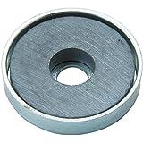TRUSCO(トラスコ) キャップ付フェライト磁石 外径19.8mmX厚み4mm 1個入り TFC20RA-1P