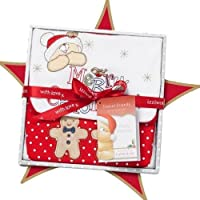 Izziwotnot Forever Friends Snowflake Christmas Baby Gift Box, 0 - 3 Months by Izziwotnot