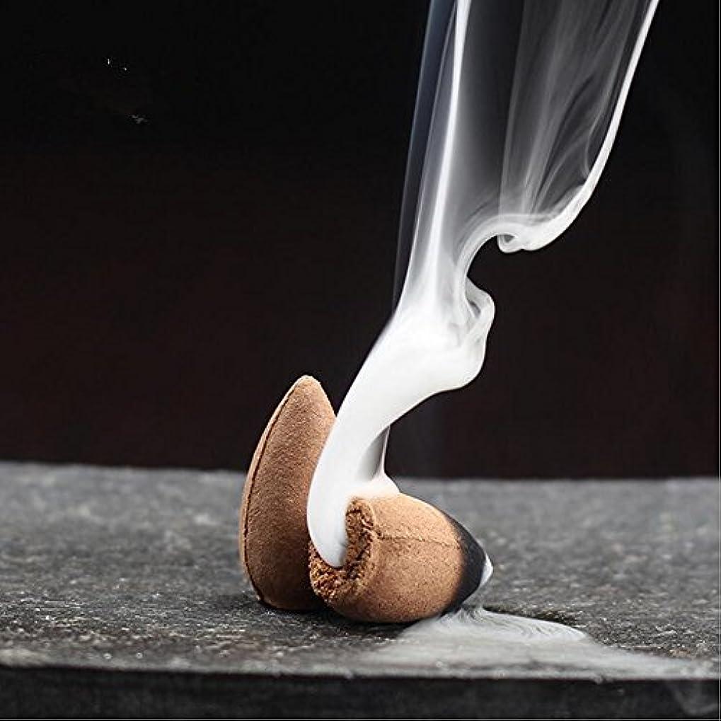 外部干し草意気込み逆流startdy自然煙PagodaインドアIncense円錐Bulletアロマセラピーのヨガ瞑想45pc /ボックス