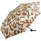 ワールドパーティー(Wpc.) 雨傘 折りたたみ傘 ジオメトリーブラウン 58cm レディース メンズ ユニセックス MSM-057