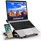 """Besign Adjustable Laptop Stand, Ergonomic Riser Notebook Computer Holder Stand Compatible with MacBook Air Pro, Dell XPS, HP, Lenovo More 10-17"""" Laptops"""