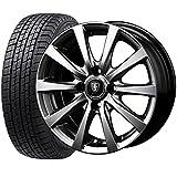 国産スタッドレスタイヤ(185/65R15)+ホイール(15インチ) 4本SET(1台分)■Aセット:マナレイスポーツ ユーロスピードG-10[メタリックグレー]