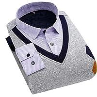 Keaac メンズ秋冬温厚フォークス2ピースセーター 17 S