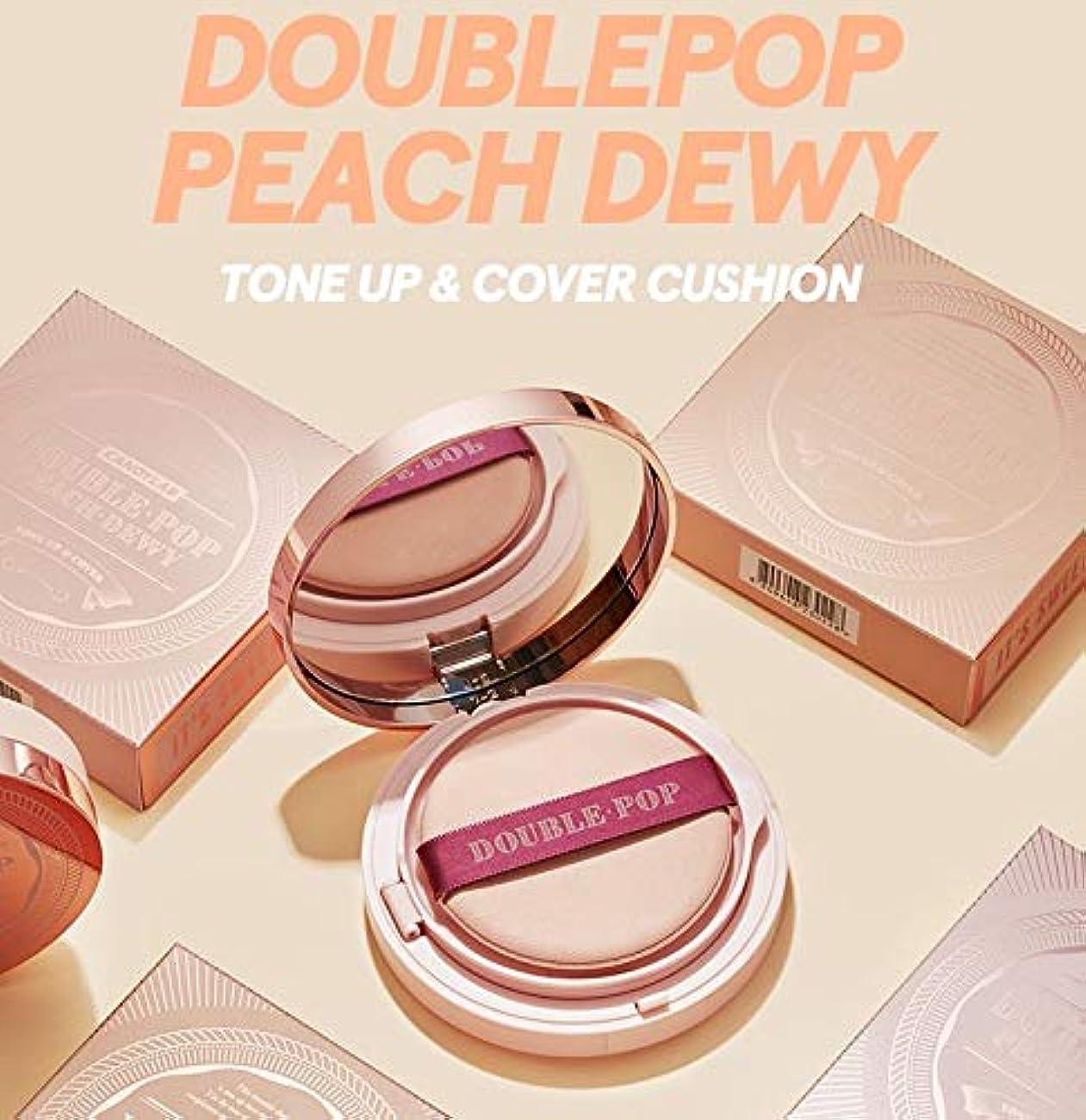 ハンカチ団結口径【キャンディラボ公式ストア】Doublepop Peach Dewy Cushion/ダブルポップピーチ クッションファンデ/正品?海外直送商品 [並行輸入品] (#17 Porcelain Peach)