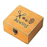 WINOMO 裁縫箱 ソーイング セット 縫製アクセサリー 30個セット 裁縫ツール 木製ボックス