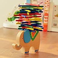 Lovoski バランスビーム かわいい 象のモデル 児童 教育玩具 木製 ギフト 多彩