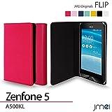 Zenfone5 A500KL ケース JMEIオリジナルフリップケース ホットピンク ASUS ゼンフォン 5 エイスース simフリー スマホ カバー スマホケース スリム スマートフォン