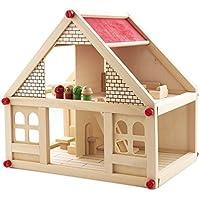 [ドリーマー] 木のハウス 木製 おもちゃ 組み立て式 積み木 ブロック 別荘 知育玩具 早期開発 wood toys おままごと ごっこ遊び 赤ちゃん 子供 キッズ