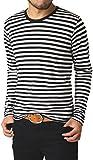 (リミテッドセレクト) LIMITED SELECT P2 クルーネックボーダー長袖Tシャツ カットソー メンズ R5L0470 L サイズ A ブラック 06