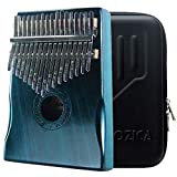 Moozica 17音カリンバ 親指ピアノ 17 keys Kalimba 17音の指ピアノ、高品質の17鍵カリンバ (マホガニ木材-K17MB)
