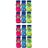 (2) - Amscan Fun Filled Summer Super Miracle Bubble Makers Party Activity, Multicolor, 120ml (Value 12-Pack)