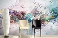 Minyose カスタム壁紙中国風の抽象的装飾的な絵画インク景色鳥TVの壁の背景壁画3dの壁紙-250cmx175cm