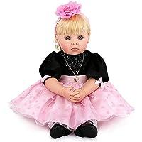 ソフトシリコンReal Looking Rebornベビー人形ドレス&長い髪の女の子が20インチTodder Toys