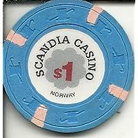 Scandiaカジノチップ1ドルノルウェーObsolete