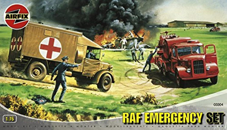Airfix A03304 1:76 Scale RAF Emergency Set Dioramas Classic Kit [並行輸入品]