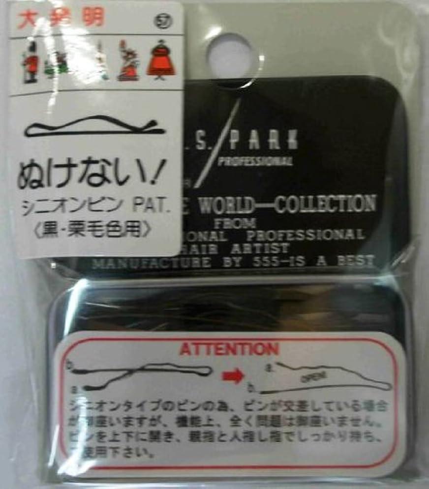 する床を掃除する同級生Y.S.PARK世界のヘアピンコレクションNo.57(黒?栗毛色用)24P