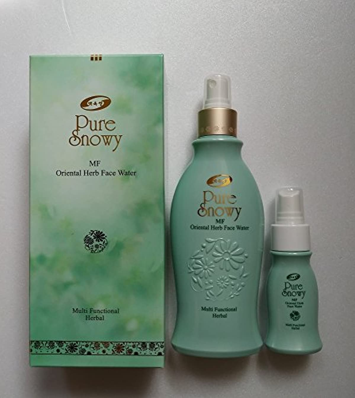 風変わりな不透明なミルク韓国コスメ漢方美容水250ml白玉生漢方ミストPure Snowy MF Oriental Herb Face Water8.45oz [並行輸入品]