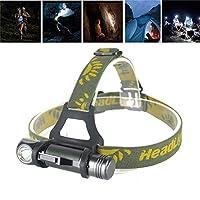 ヘッドトーチ、充電式防水フォーカスヘッドライト、1600ルーメンLEDヘッドランプ、3モード防水ヘッドライトキャンプハンティングヘッドトーチ懐中電灯