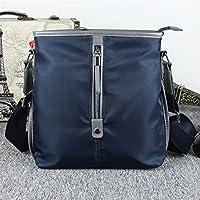 Has Many Uses Men Canvas Shoulder Bag Simple File Shopping Handbag Blue