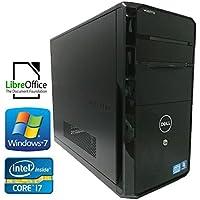 中古デスクトップパソコン DELL Vostro 460 i7 2600 3.40GHz 8GB 新品 HDD 1TB MULTI win7 windows7 Pro 64bit NVIDIA GeForce GT 530 HDMI office 等インストール済