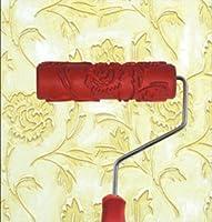 "bueer 7"" DIY Patternedペイントローラーで装飾ゴムローラープラスチックハンドル guntong0026-30"