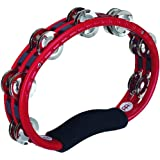 MEINL Percussion マイネル タンバリン Traditional ABS Tambourine Steel Jingles Red TMT1R 【国内正規品】