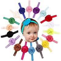 cokate 18pcs赤ちゃんヘッドバンド伸縮性Shabby Flower Hairband Headwear