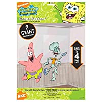Amscan Silly Sponge Bob Party Patrick & Squid Ward Scene Setter Add-Ons Wall Decorations, Multicolor, 4'