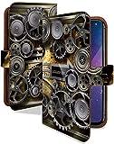 iPhone XS ケース 手帳型 スチームパンク ゴールド スチームパンク スマホケース アイフォンテンエス アイフォン10S アイフォーン アイホン テンエス エックス 手帳 カバー IPHONEXS xsケース xsカバー 時計 ぜんまい 時計柄 [スチームパンク ゴールド/t0711c]
