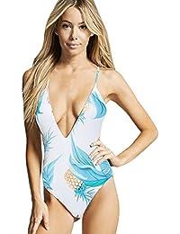 LZE-ホワイトのセクシーなワンピース水着、バック裸、夏休み、スパ