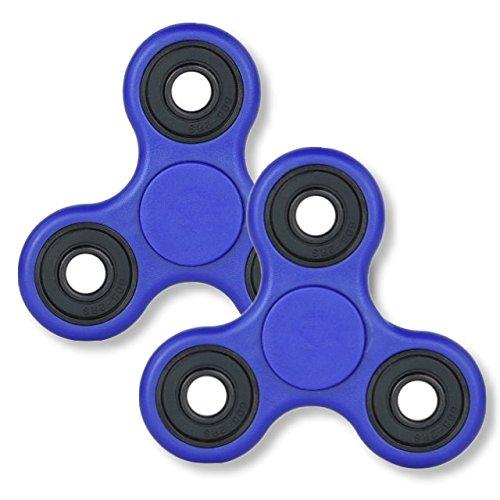 【2個セット】ハンドスピナー NEW ブルー Fidget ...