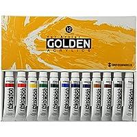ターナー色彩 アクリル絵具 ゴールデンアクリリックス 12色スクールセット GL12C 11ml