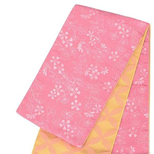 リバーシブル 半巾帯 小袋帯【白石麻衣/ピンク×ベージュ 小...