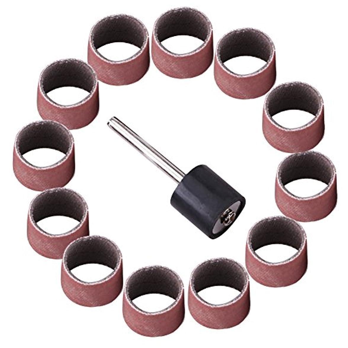 成り立つファイル結晶Akozon研削サンドドラムキット、ドラムサンドサンドペーパーバンドスリーブマンドレル木工工作研磨キット80/320 / 600Grit(600個)