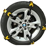 【 取付 簡単 】 簡易 タイヤ チェーン セット 2輪分 軽量 コンパクト ソフト プラスチック 事故 防止 MI-SNOCHAN (M 【タイヤ幅:185から225mm】)